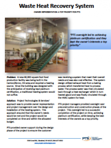 Waste Heat Recovery System Case Study